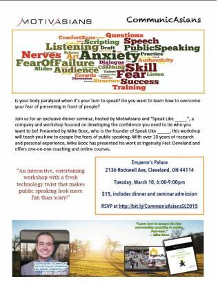 CommunicAsians - Public speaking 2015