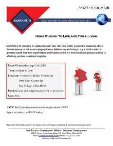 Home Buying - Real estate seminars